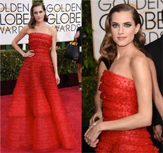 Golden Globe 2015: Allison Williams - Fashionismo