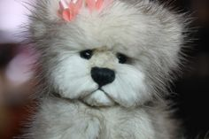 """Teddy Bear. Nicole OOAK One Of A Kind Recycled mink fur bear. (made from a vintage jacket) giving life back. Never taking it. Available.......""""Sold"""""""