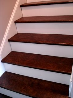 Decoration:Paper Bag Stairs Walnut Stained Floors Brown Stain Mocha Love Wood Flooring Minwax White Varnish Colours Colors Low Voc On Maple Red Oak Provincial Ebony Solid Hardwood Walnut Stained Floors Staircase Makeover, Basement Staircase, Redo Stairs, Basement Steps, Attic Stairs, Staircase Design, Paper Bag Flooring, Wood Flooring, Stairs Flooring