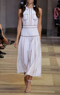Illusion Seam Dress by CAROLINA HERRERA for Preorder on Moda Operandi