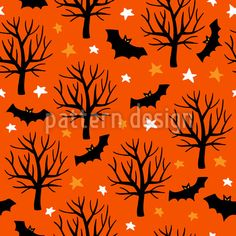 Spooky Halloween Tree with Bats and Stars Panel Wall Art - art artwork picture diy unique Halloween Vector, Halloween Patterns, Halloween Trees, Halloween Fun, Halloween Design, Vector Pattern, Pattern Design, Black Tree, Panel Wall Art