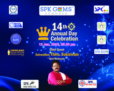 Our 14th Annual Day Function held on 12th January 2016 at 5.00 PM in SPK GEMS School campus.