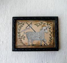 Lamb of God Fraktur  primitive by primitivehand on Etsy, $78.00