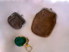 Coin Purses Lot of 3 Old Leather Vintage to Antique by annimae182