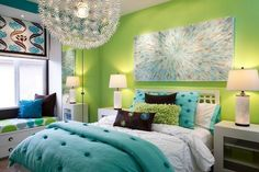 Ideas for Bedroom Decor: teen girls bedroom i want!!!!!! im getting everything in that room against that one wall!!!!