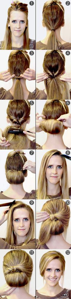 Hey divas, I have a great hair tutorial for you today. It is a post called DIY! Your Step-by-Step for the Best Cute Hairstyles. My Hairstyle, Pretty Hairstyles, Easy Hairstyles, Hairstyles 2018, Elegant Hairstyles, Hairstyle Ideas, Wedding Hairstyles, Corte Y Color, Great Hair