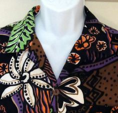 "Eye-popping Vivid Duke Kahanamoku Hawaiian Shirt vintage cotton/  rayon XL 48"" #DukeKahanamoku #Hawaiian"