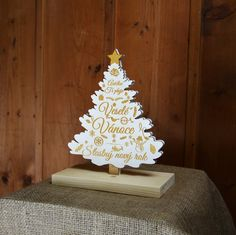 Christmas tree with laser engraving (plywood, hardwood, plastic)
