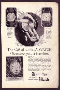 1920s era Hamilton watch ad
