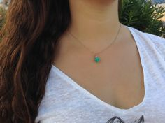 Turquoise necklace evil eye necklace by JewelryFamousWorld on Etsy