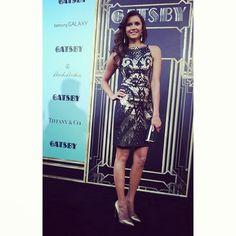Looking fabulous as always, #TheVampireDiaries star Nina Dobrev at the #GatsbyPremiere