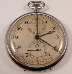 Rare 1930's-1940's ALPINA Sport chronograph caliber 18.75''. Caliber based on Minerva 17-29 | Flickr - Photo Sharing!