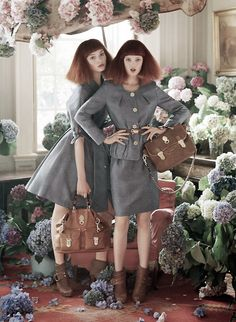Models: Nimue Smit & Lindsey Wixson Photographer: Tim Walker for: Mulberry Spring-summer 2011