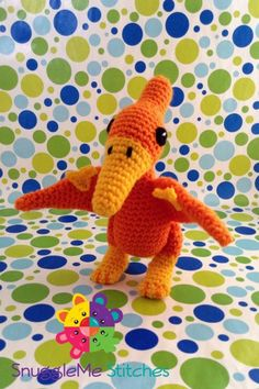Terrific Pterodactyl - our top 9 dinosaur patterns - find them all on the Let's Knit blog!