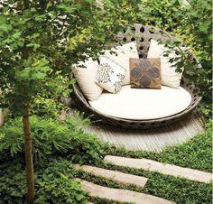 Schon Moderne Gartengestaltung Mit Steinen Gartenweg Idee  Steinplatten Lang Lounge Tagesbett | Gartengestaltung | Pinterest |  Gardens, Backyard And Outdoor Living