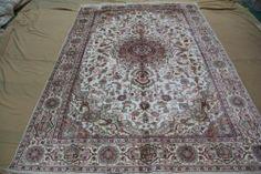 6'x9' Handmade Hand-knotted 450 kpsi Silk Oriental Persian Tabriz Rug B352