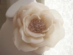 Fabric flower with beads