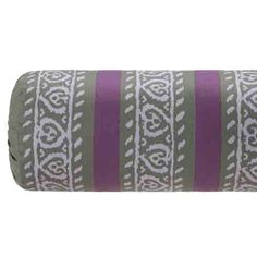 Shades of purple, gray and berry bring out the exotic design of this beautiful neckroll pillow, instantly spicing up any bedroom's decor and creating the perfect addition to the Marrakesh bedding.