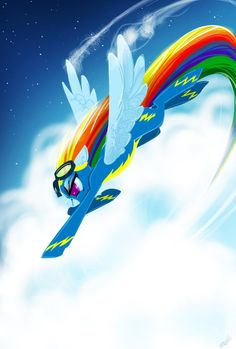 Rainbow Crash! by ViralAcorn.deviantart.com on @DeviantArt. Wonderbolt Dashie!! Repin if you really loved the newest episode!!