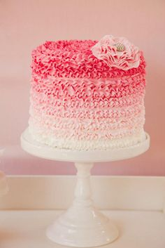 Ruffle buttercream ombre cake by Cake Envy Melbourne