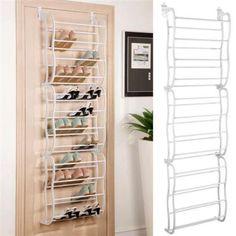 36 Pair Over The Door Hanging Shoe Rack Organizer Storage...