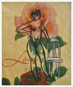 2006 croquis liidulla käärepaperille  by Satu Laaninen