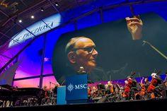 """""""Genua becomes Precious"""" Event for MSC Crociere   Great Master Ennio Morricone"""