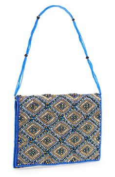 Micky London Handbags Beaded Flap Clutch