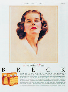 I visited the Breck factory with the Girl Scouts as a child, I was sure I would have beautiful hair! This beauty posed for Breck shampoo ad portraits (including this one) in the #1950s. Click to read about her experience!