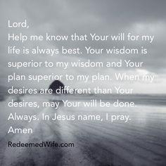 Today's Prayer! #GodsWill #BeDone #Prayer