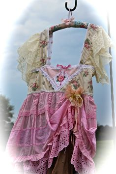 Sweet Neapolitan Boho Dress Rustic Shabby Chic Gypsy Cowgirl Chic BelleVintage Style