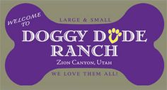 Our logo for the #Doggy Dude Ranch.