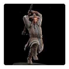Weta continues its legacy of producing finely crafted, highly detailed 1:6 scale collectible polystone statues from Middle-earth with this The Hobbit An Unexpected Journey Nori the Dwarf 1:6 Scale Statue! A limited edition of just 1,000 pieces, Nori was sculpted by Scott Spencer in New Zealand. Nori is captured with weapon in hand, lunging forward in an attack mode. The statue measures 11-inches tall and was created by the same artists and craftspeople who worked on the movie sets!