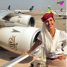 Emirates Stewardess Crewfie Aerolinda : Luciana . Persista sempre no que você acredita . Não deixe que seus sonhos só fiquem na imaginação . ❤️✈️