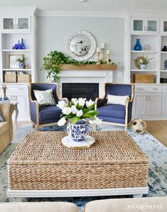 Home Decoration Ideas Bathroom New Blue and White Living Room Decor.Home Decoration Ideas Bathroom New Blue and White Living Room Decor White Family Rooms, Blue And White Living Room, Living Room Decor Blue, Decor Room, Tv Decor, Blue Living Room Furniture, Beach House Furniture, Wall Decor, White Rooms