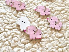 Craft Supplies, Elephant, My Etsy Shop, Buttons, Animal, Fabric, Baby, Crafts, Tejido