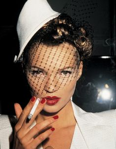 Kate Moss at John Galliano's 1994 show in Paris. Photo by Roxanne Lowit.