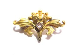 Antique Art Nouveau Victorian Watch Pin with by darsjewelrybox