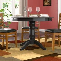 Kitchen Dining Tables You'll Love in 2020 Wood Pedestal, Pedestal Dining Table, Extendable Dining Table, Dining Tables, Dining Sets, Solid Wood Dining Table, Dining Table In Kitchen, Round Dining, Kitchen Nook