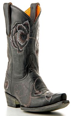 Womens Old Gringo Marsha Boots Black And Grey #L427-15