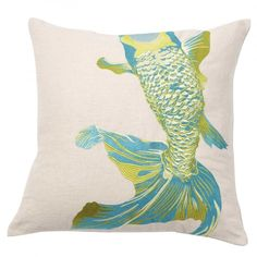 Acid Whole Baby Fish Throw Pillow by emma at home