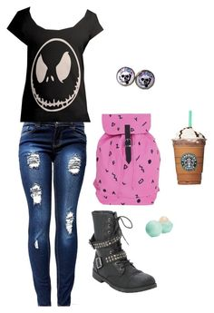 """""""Untitled #4960"""" by northamster ❤ liked on Polyvore featuring Torrid, cutekawaii, Lazy Oaf and Eos"""