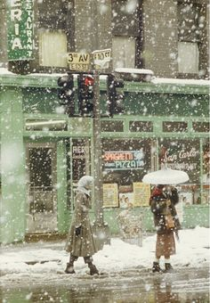 San Carlo Restaurant, 1952 (Foto de Saul Leiter) [The New Yorker 9 March 2015]