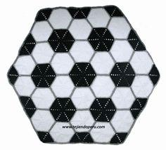Ravelry: Manta con diseño de pelota de football pattern by Esperanza Rosas