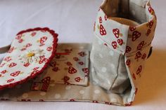 Sew a teacup or mug bag. Cute little travel tote to carry your cup, tea bag, sweetener, etc.