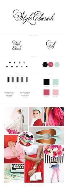 Custom Blog Design for Style Charade, A Chicago-based Fashion Blog - logo design, wordpress theme, mood board inspiration, blog design idea, graphic design, branding