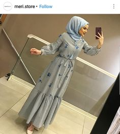 Elbise Modern Hijab Fashion, Muslim Women Fashion, Islamic Fashion, Abaya Fashion, Modest Fashion, Skirt Fashion, Fashion Outfits, Hijab Casual, Hijab Chic