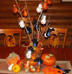 Halloween Ornaments  Bats Ghosts