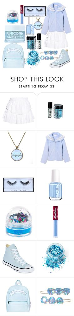 """Youthful Dream"" by drhumanguy ❤ liked on Polyvore featuring LoveShackFancy, cutekawaii, Huda Beauty, Essie, claire's, Lime Crime, Converse, In Your Dreams, Sugarbaby and cute"