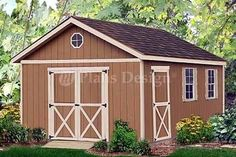 20 X 12 Yard Storage Building / Gable Shed Plans #22012